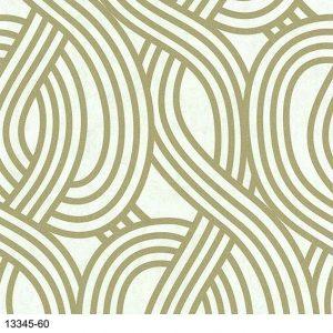 Papel de Parede Geométrico Dourado