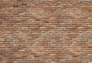 Painel Fotográfico Tijolos laranja 8-741 3.68 m x 2.54 m