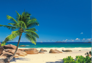 Painel Fotográfico com foto de Praia | Ref: 4-006 2.70m Largura x 1.94m Altura