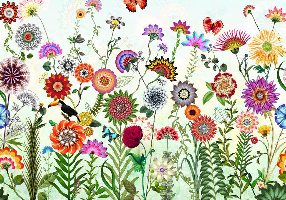 Painel Fotográfico com imagens de Flores e Flora | Ref: 8-200