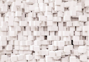 Painel Fotográfico Cubos Brancos 3d | Ref: 8-207