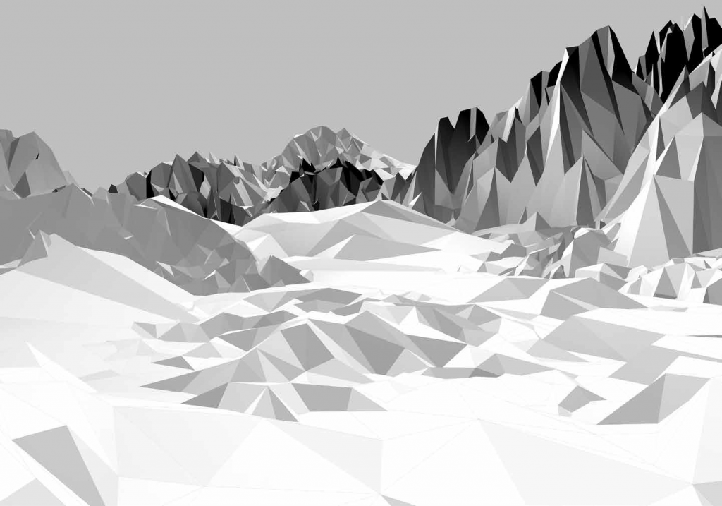 Painel Fotográfico Montanha 3D - Ref: 8-208