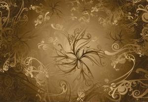 Painel Fotográfico Floral em Ouro 8-703 3.68 m x 2.54 m