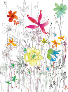 Painel Fotográfico com Flores Coloridas | Ref: XXL2-022