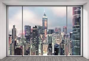Painel Fotográfico Janela New York - Ref: XXL4-030 - Medidas: 3.68m x 2.48m