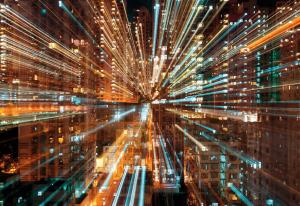 Painel Fotográfico Velocidade da Luz | Ref: XXL4-037 - Medidas 3.68m x 2.48m