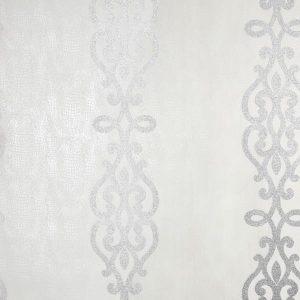 Papel de Parede TNT Inglês, papel de parede emcouro na cor creme, papel de parede emborrachado, papel de parede cinza com glitter, decoraçao classica