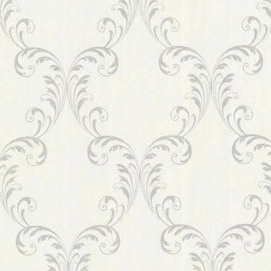papel de parede com brilho, papel de parede arabesco, papel de parede bege com prata