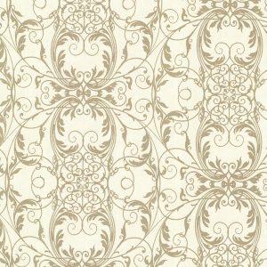 papel de parede com fundo mesclado em dourado e palha, papel de parede arabescos