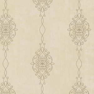 papel de parede com fundo mesclado em dourado e palha, papel de parede com arabescos em dourado
