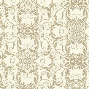 arabescos em dourado, papel de parede com desenhos, papel de parede marrom
