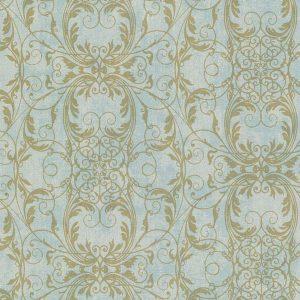 papel de parede com fundo azul, papel de parede dourado, papel de parede dourado com glitter, papel importado europeu