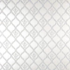 papel de parede geometrico, papel de parede perolado com flor de lis