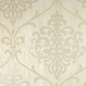 Papel de parede mesclado em tons de bege e palha, papel de parede com aplique de brilho, papel de parede com detalhes em dourado