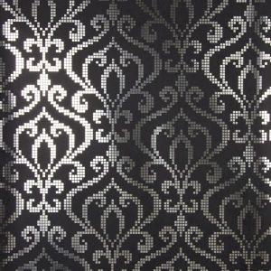 Papel de Parede Preto e Pratacom arabescos, papel  de parede com arabescos