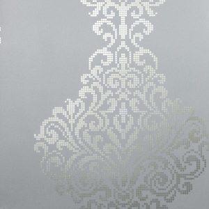 papel de parede com arabesco azul claro, papel de parede para  quarto, papel de parede para sala