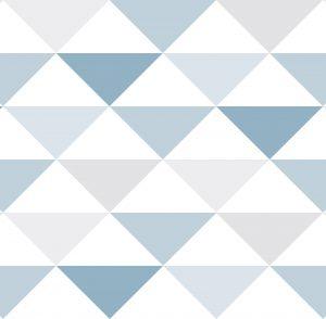 Geométrico triângulos Azuis - Ref: 3601