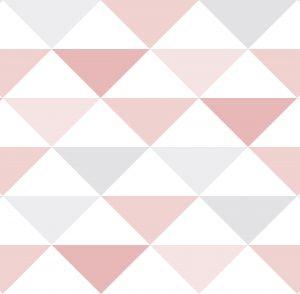 Geométrico triângulos Rosa - Ref: 3602