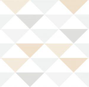 Geométrico triângulos bege - Ref: 3603