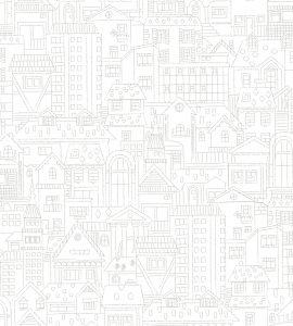 Papel de Parede Infantil Urbano - Ref: 6202