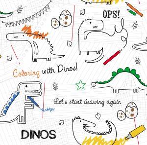 Papel de Parede Infantil Dinossauro - Ref: 6206