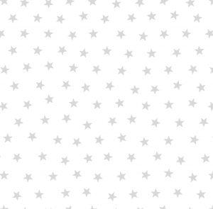 Papel de Parede Infantil Estrelinhas Prata - Ref: 6214