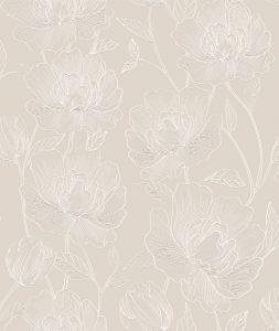 Papel de Parede Floral Rosê