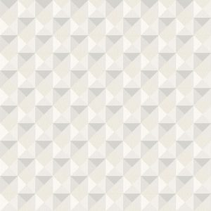 Papel de Parede Geométrico bege com Cinza - Ref: 3703
