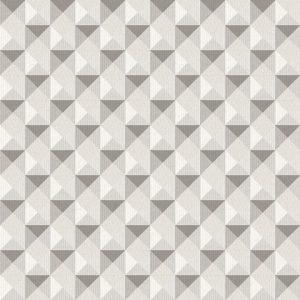 Papel de Parede Geométrico Cinza e Bege - Ref: 3704