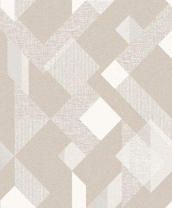 Papel de Parede Geométrico Marrom e Branco