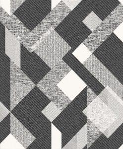 Papel de Parede Geométrico Preto e branco