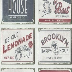 Papel de Parede Vintage drinks 6365-06
