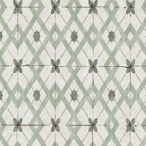 Papel de Parede azulejo Verde 6366-07