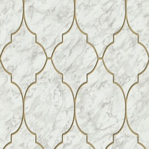 Papel de Parede azulejo off white 6391-10