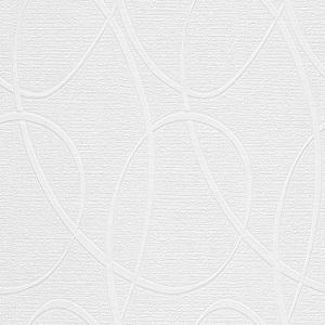 Papel de Parede circulos ovais branco 5379-10