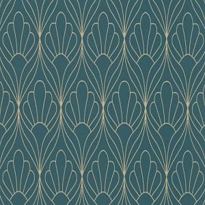 Papel de Parede estilo petalas azul 6389-08