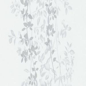 Papel de Parede folhas cinza fundo branco 10047-31