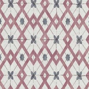 Papel de Parede imita azulejo vermelho 6366-06