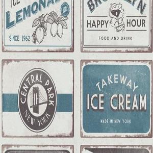 Papel de Parede vintage quadros drinks 6365-08