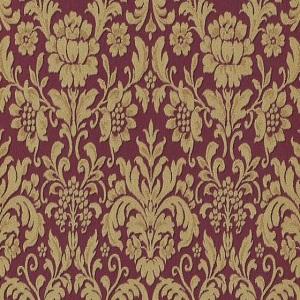 Papel de parede arabesco dourado fundo vinho 6378-06