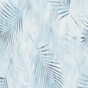 Papel de parede folhas palmeira azul bebe 02579-20