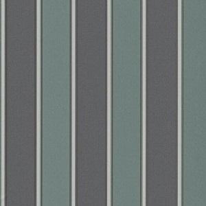 Papel de parede listrado verde com preto 6377-18