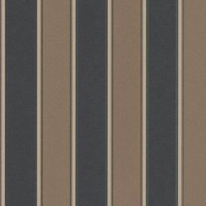 Papel de parede listrado marrom com Preto-6377-11