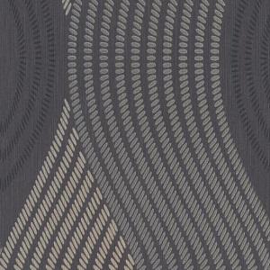 Papel de parede pontilhados preto cinza 10045-15