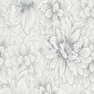 Papel-de parede flores cinza 5425-10