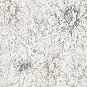 Papel de parede floral cinza claro 5425-02