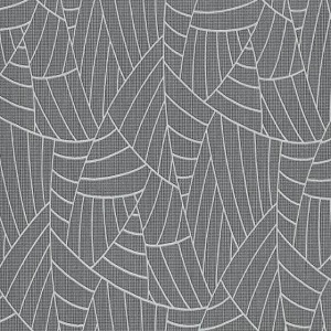 Papel de parede folhas cinza escuro 5427-15