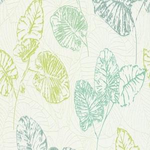 Papel de parede folhas tons verde 5426-07