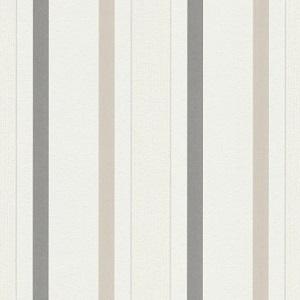 Papel de parede listrado marrom bege 5429-02