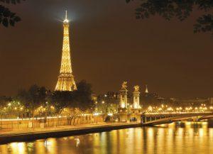 Painel fotográfico vista de Paris Torre Eiffel/ Ref: 4-321 2.54m Largura x 1.84m Altura